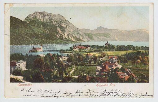 Gmunden. Schloss Ort. 1900