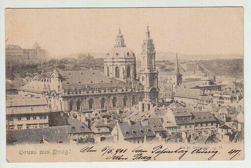 Gruss aus Prag! Die St. Niklaskirche. 1890