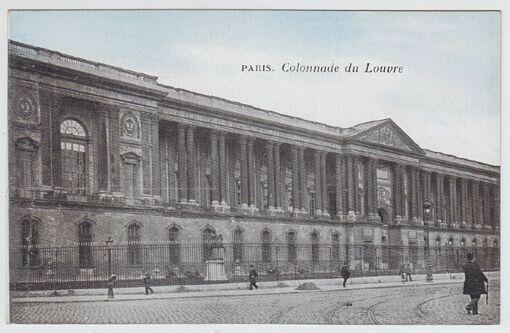 Paris. Colonnade du Louvre 1900