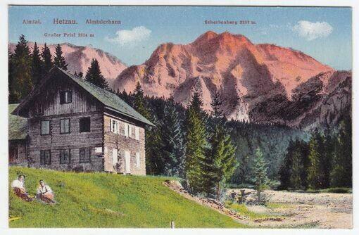 Altmal. Hetzau. Almtalerhaus. Großer Priel 2514... 1920