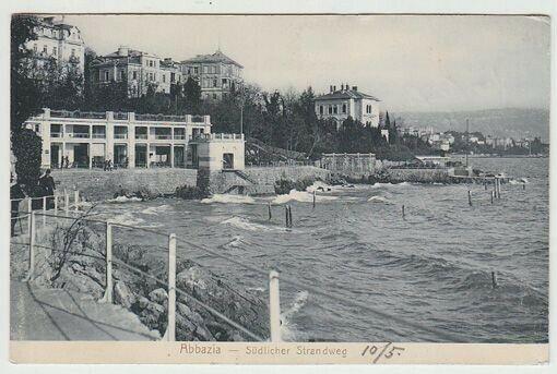 Abbazia - Südlicher Strandweg. 1900