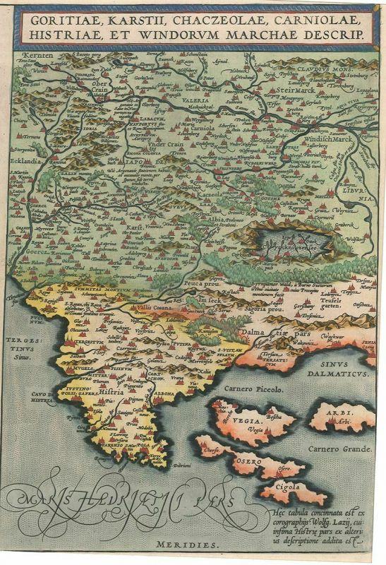 Goritiae, Karstii, Chaczeolae, Carniolae, Histriae, Et Windorum Marchae Descrip. 0