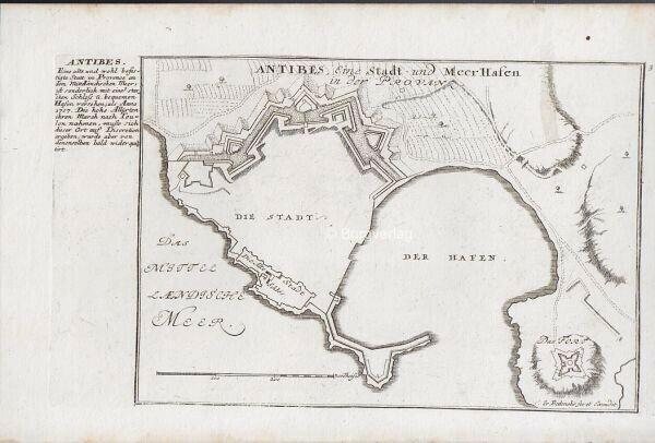 BODENEHR, Antibes, Eine Stadt und Meerhafen in... 1725