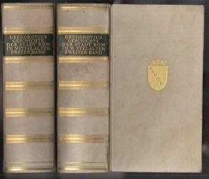 Geschichte der Stadt Rom im Mittelalter. GREGOROVIUS, Ferdinand.
