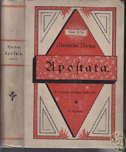 HARDEN, Apostata. 1892