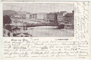 Gruss aus Wien. I., Stefanie-Brücke. 1900
