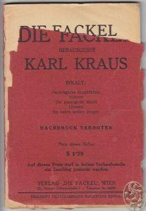 DIE FACKEL. Hrsg. Karl Kraus. 1926 0702-04