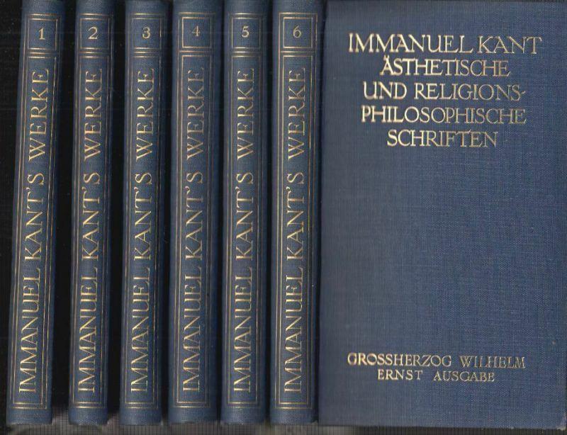 Sämtliche Werke. (Hrsg. v. Felix Gross). KANT, Immanuel.