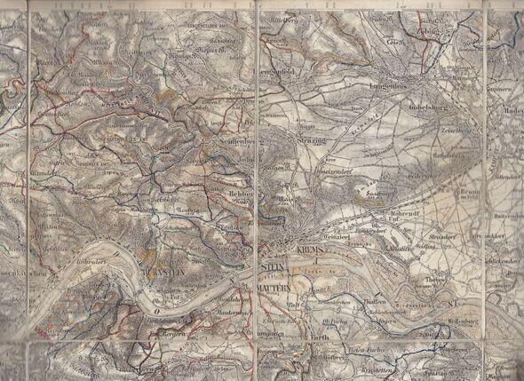 Karte Krems Zone 12  Kol.XIII 1912