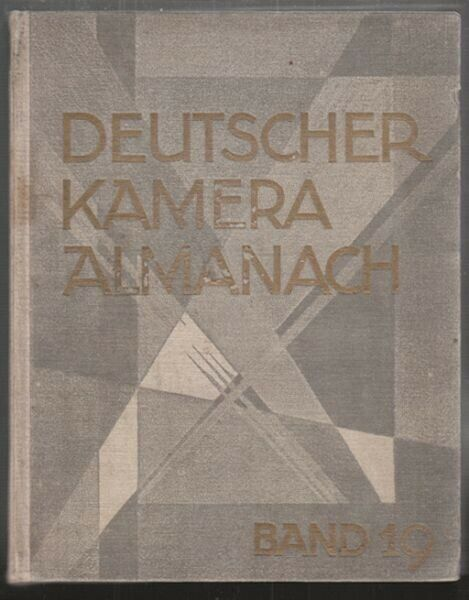 Deutscher Kamera-Almanach. Ein Jahrbuch für die... 1929