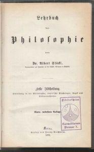 STÖKL, Lehrbuch der Philosophie. 1876