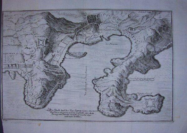 Die Stadt und der See-Haven Ville Franche oder... 1700