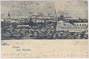 Gruss aus Olmütz. Nieder-Ring. 1900