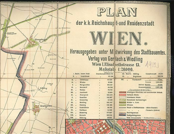 Plan der k.k. Reichshaupt- und Residenzstadt Wien. Herausgegeben unter Mitwirkun