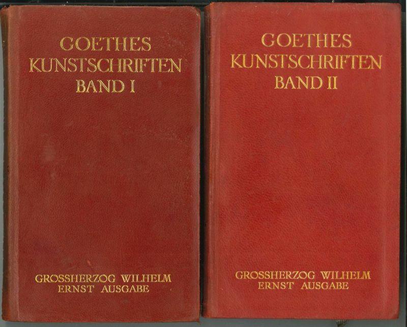 Kunstschriften. (Hrsg. v. Max Hecker). GOETHE, [Johann Wolfgang v.].