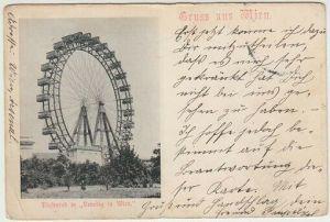 Gruss aus Wien. Riesenrad in