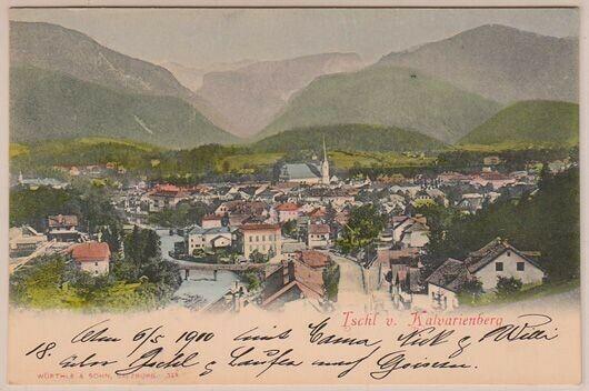 Ischl v. Kalvarienberg. 1890