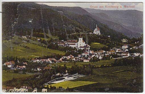 Gruss aus Kirchberg a. Wechsel. 1908
