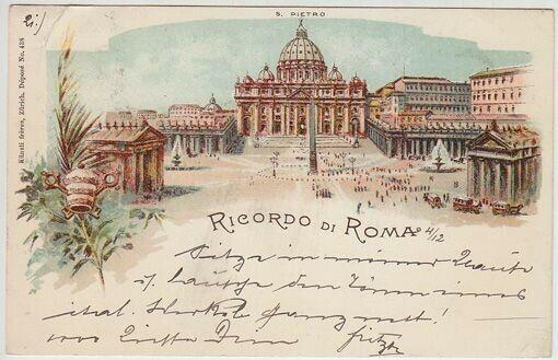 Ricordo di Roma. S. Pietro. 1890