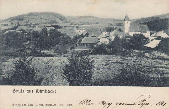Gruß aus Dimbach! 1900