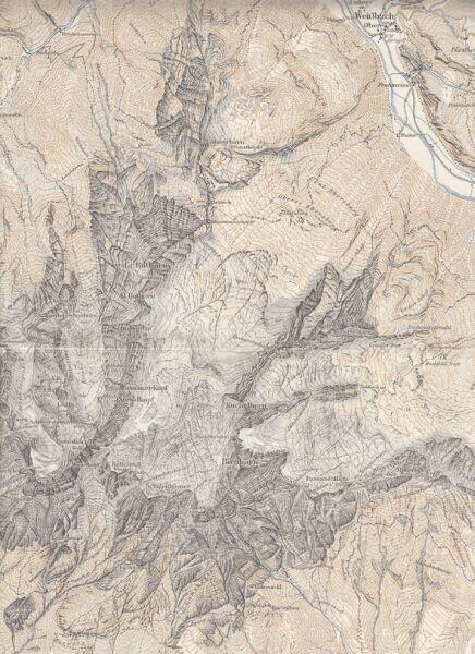 Karte der Leoganger Steinberge. 1926