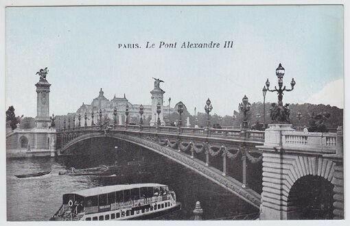 Paris Le Pont Alexandre III 1900