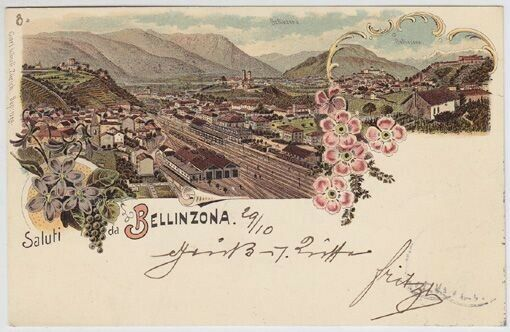 Saluti da Bellinzona. 3796-11