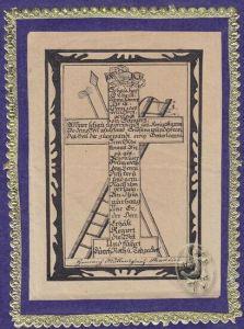 Schau her O Christ wenn schwer dir ist, wenn... 1850