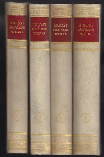 ARIOSTO, Sämtliche poetischen Werke. Übertragen... 1922