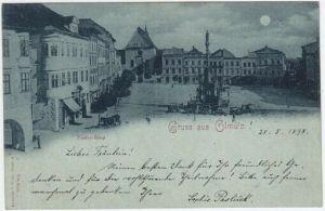 Gruss aus Olmütz. Nieder-Ring. 1890