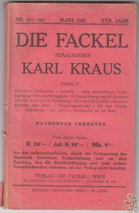 DIE FACKEL. Hrsg. Karl Kraus. 0667-04