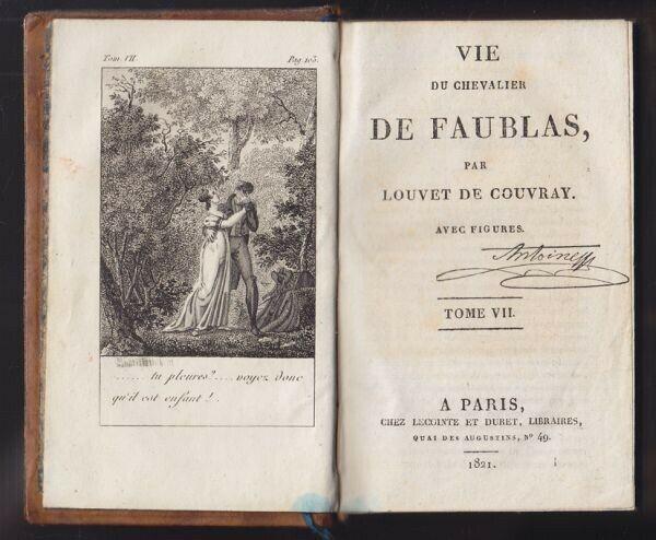 COUVRAY, Vie du Chevalier de Flaubert. 1821