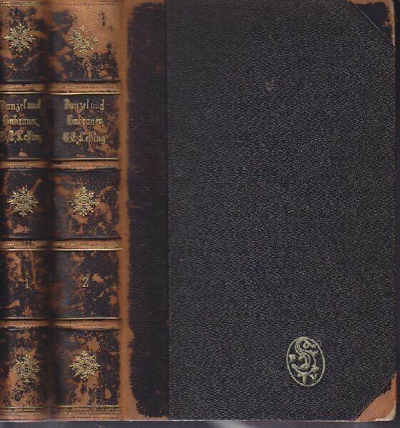 DANZEL, Gotthold Ephraim Lessing. Sein Leben... 1880