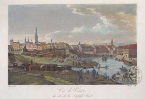 Vue de Vienne du côte de la Leopold-Stadt. 1821