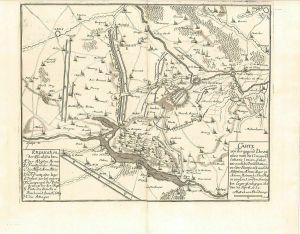 Carte von der gegend Dovaij alwo man die Circonvalations linien siehet, wie auch