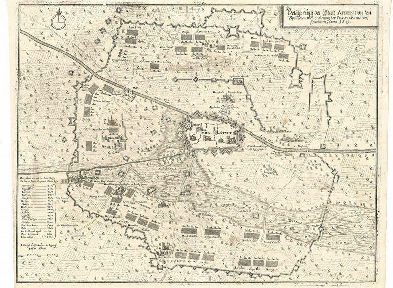 Belagerung der Stadt Arien von den Spanischen noch eroberung der Frantzosen vorg