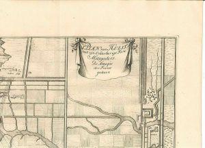 Plan van Hulst met zijn Onderhorige Forte Mitsgaders. De Attaque der France geda