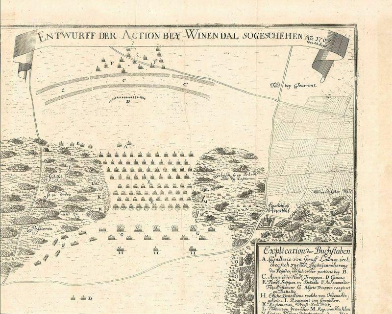 Entwurf der Action bey Winendal, sogeschehen Ao. 1708, den 28. Sept.
