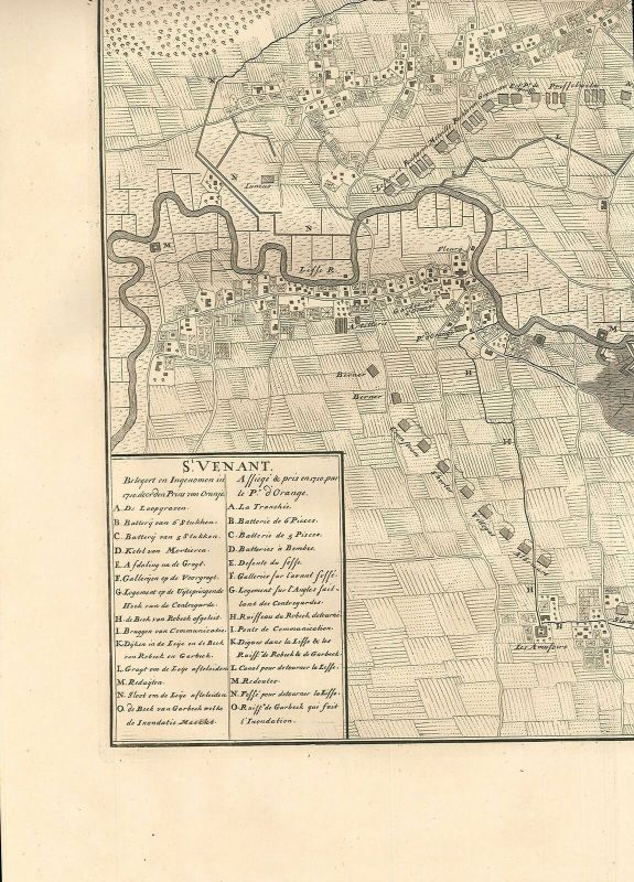 St. Venant. Assiegé & pris en 1710 par le Pr. d`Orange.