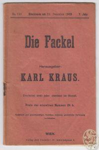 DIE FACKEL. Hrsg. Karl Kraus. 0410-16
