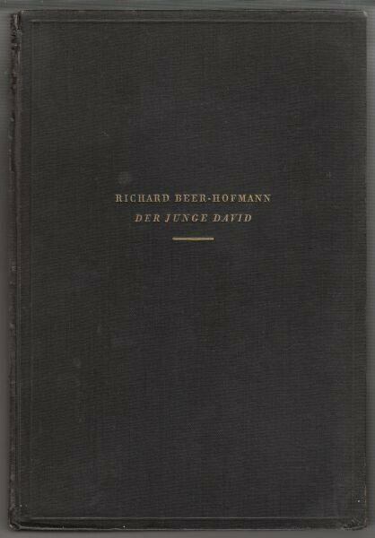 BEER-HOFMANN, Der junge David. Sieben Bilder. 1933