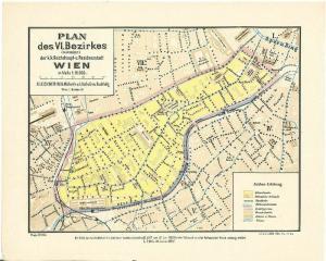 Plan des VI. Bezirkes (Mariahilf) der k.k. Reichshaupt- und Residenzstadt Wien i
