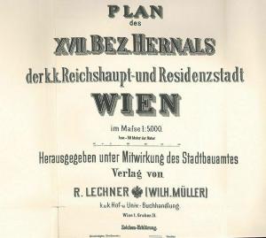 Plan des XVII. Bez. Hernals der k. k. Reichshaupt- und Residenzstadt Wien im Maß