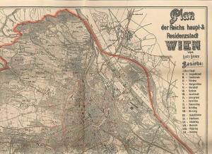 Plan der Reichshaupt- & Residenzstadt Wien. RAINER, Louis.