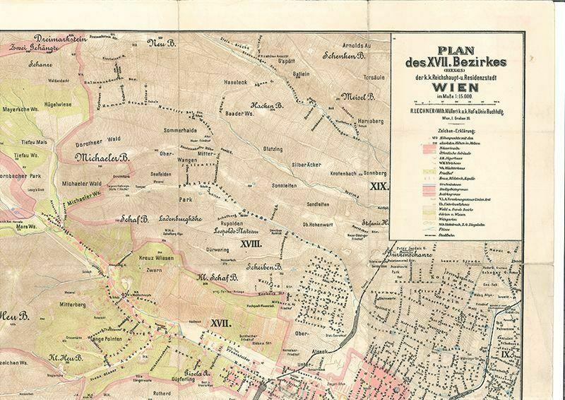Plan des XVII. Bezirkes (Hernals) der k.k. Reichshaupt- u. Residenzstadt 0724-19