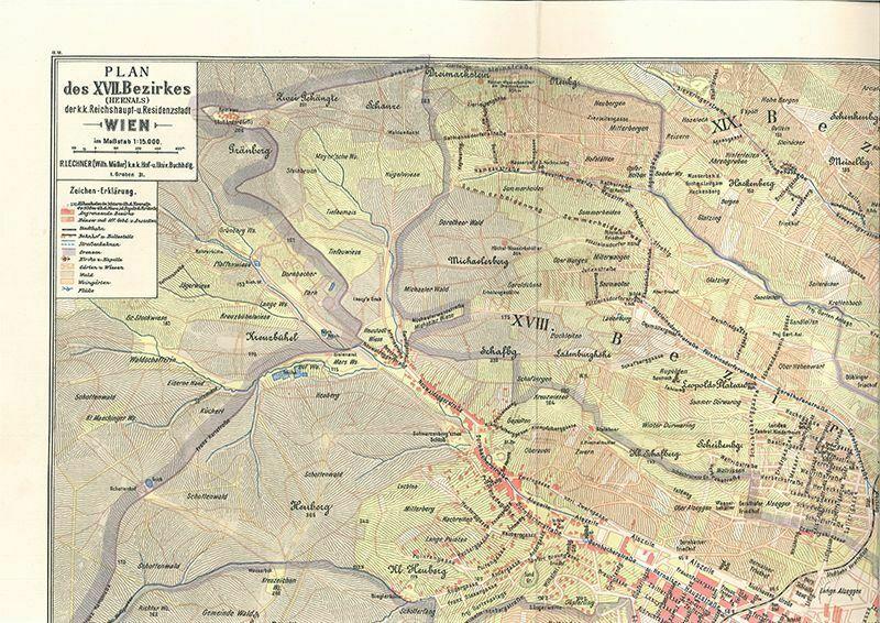 Plan des XVII. Bezirkes (Hernals) der k.k. Reichshaupt- u. Residenzstadt Wien im