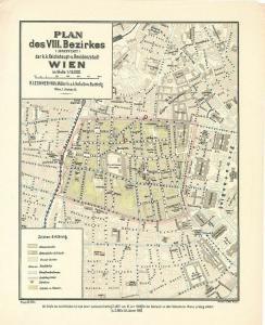 Plan des VIII. Bezirkes (Josefstadt) der k. k. Reichshaupt- und Residenzstadt Wi
