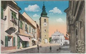 Pettau, Hauptplatz. 1914