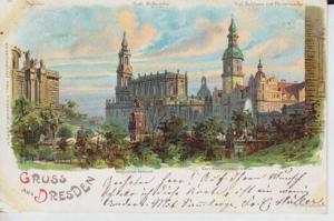 Gruss aus Dresden. Theater. Katholische... 1898