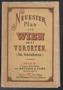 Neuester Pan von Wien mit Vororten (bis Schönbrunn.).